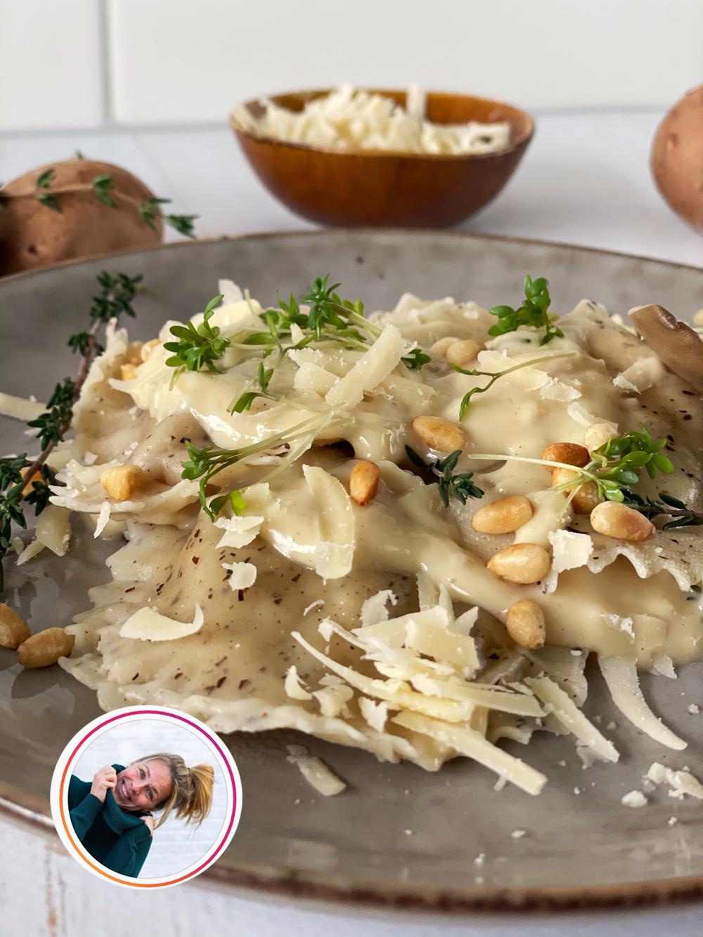 allerhande kerst recept ravioli veganized door Bonusvegan