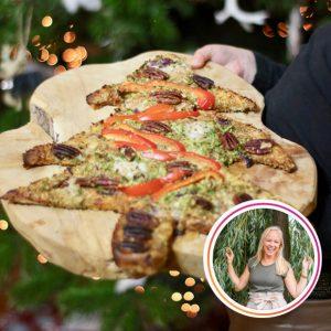 vegan kerstboom pizza allerhande lekker vega