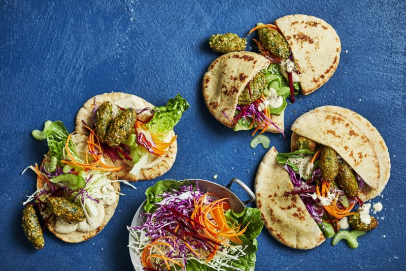 Pita met falafel vegetarisch
