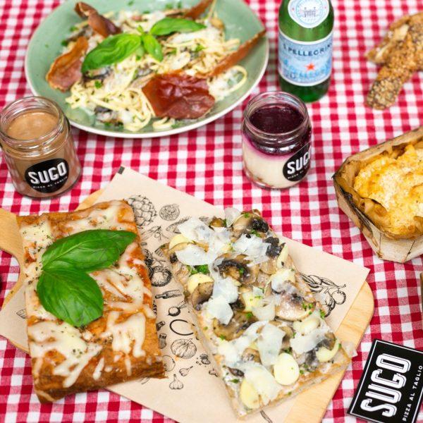 SUGO vega restaurant Amsterdam voor vegan pizza's