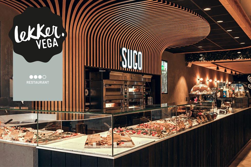 SUGO Utrecht is LekkerVega Restaurant Zilver voor vega en vegan pizza's
