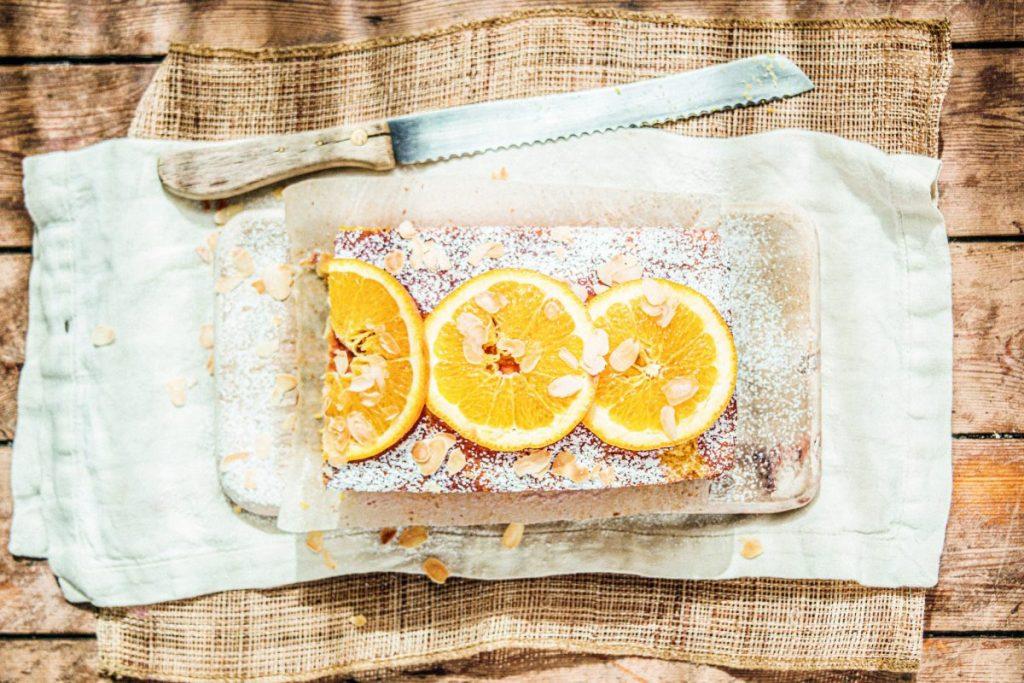 Vegan Polentataart met olijfolie en sinaasappel