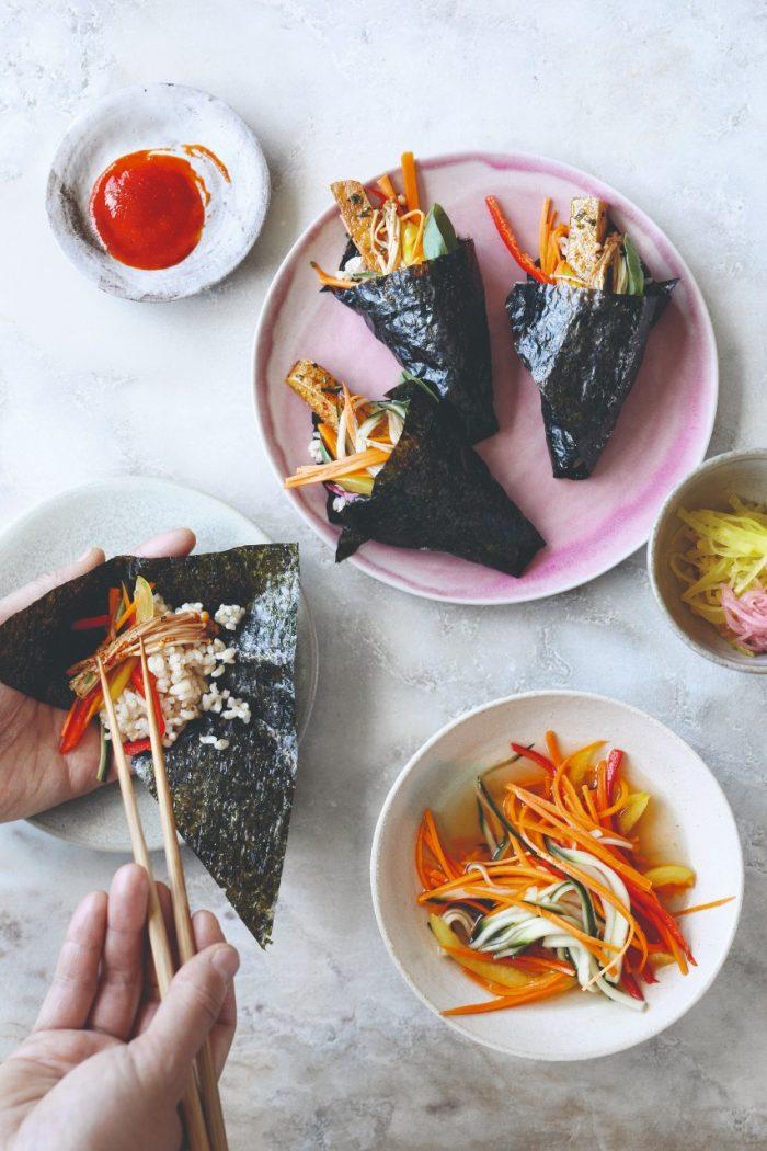 Vegan Japanse handrolletjes uit 'Asian Green'